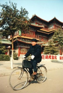 Radfahrer in der Provinz Yunnan