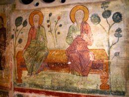 Wandgemälde im Kloster Metamorfosis