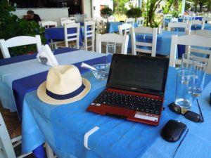 Petros Taverne: Mein Büro am Meer