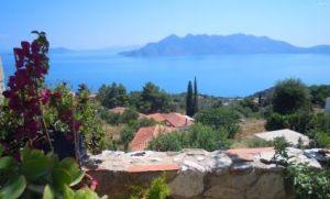 Blick von Driopi über den Saronischen Golf
