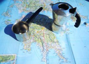 Hinter der Espresso-Grenze wird Griechenland urig