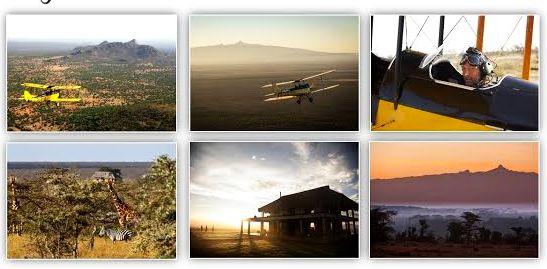 Ammy fliegt für Gäste des Luxus-Safari-Cam Segera Retreat