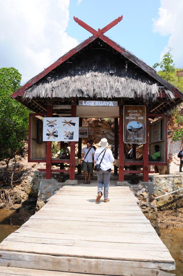 Nationalparkhaus auf Insel Rinca