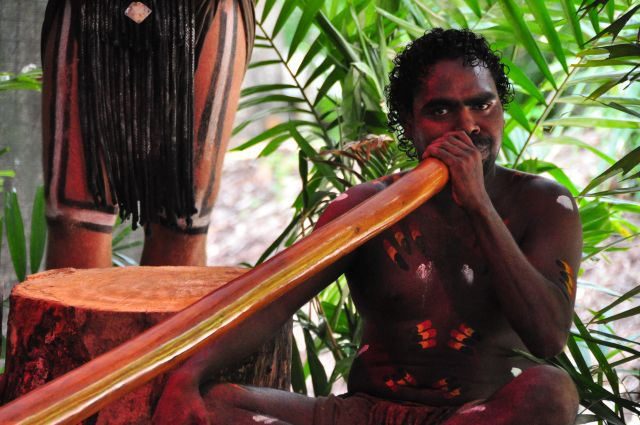 Aborigine im Kulturzentrum Tjapukai