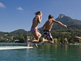 Sommer am Fuschelsee: Baden . . .