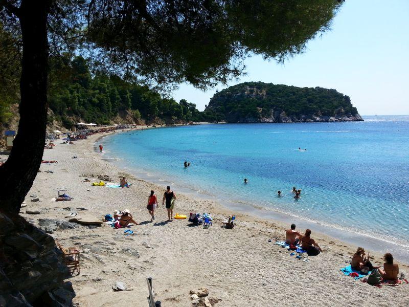 Staphylos Beach auf der Insel Skopelos