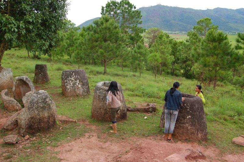 Ebene der Tonkrüge Laos