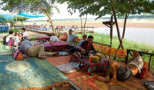 Flusslokal in Vientiane Laos