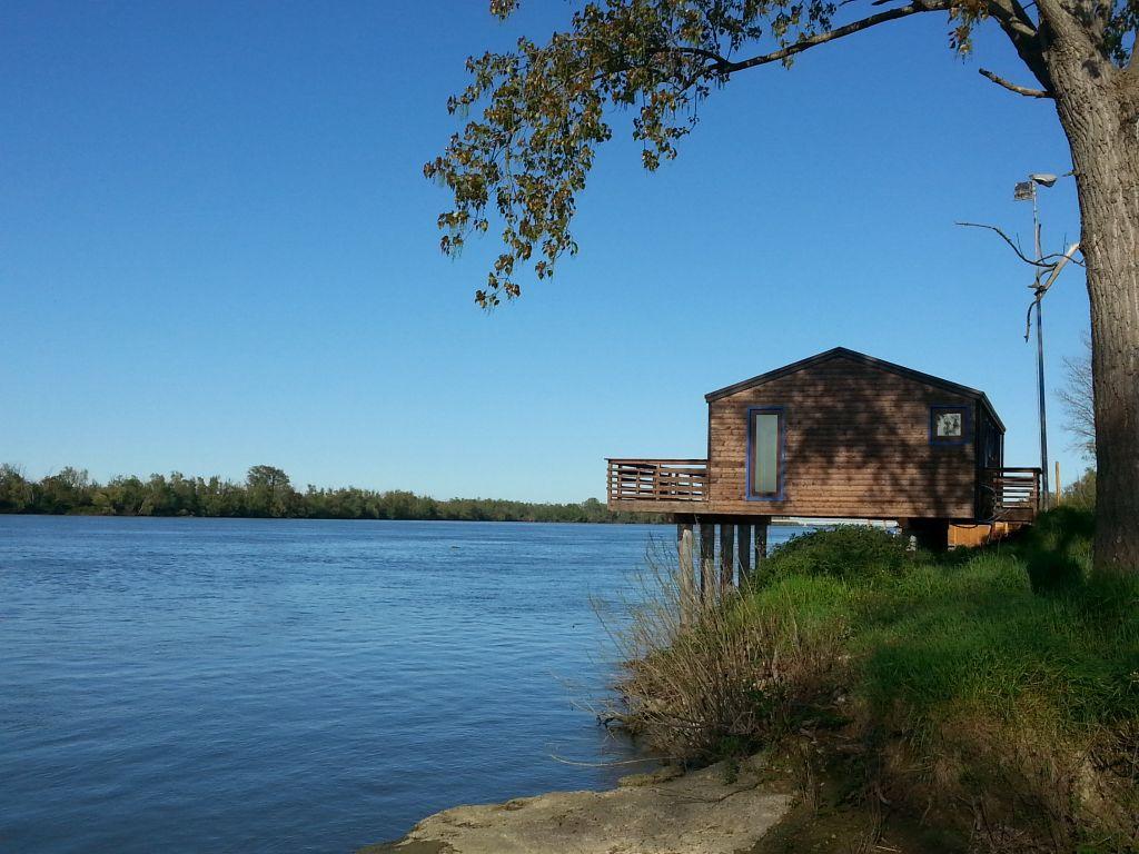 Fischerhütte am Po bei Porto Tolle
