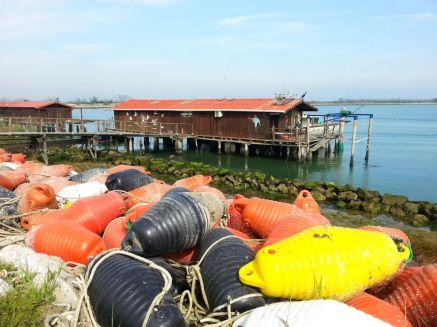 Fischerhütte in Pila